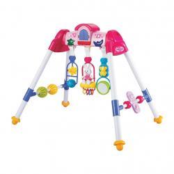 Dětská hrající edukační hrazdička De Lux Baby Mix pink Růžová