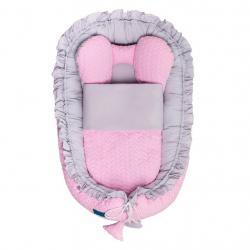 Luxusní hnízdečko s peřinkou pro miminko Belisima Králíček růžové Růžová