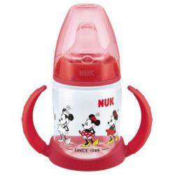 Kojenecká láhev na učení NUK Disney Mickey 150 ml červená Červená
