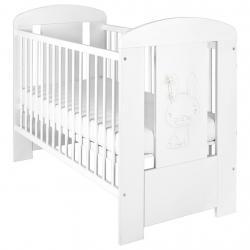 Dětská postýlka New Baby Králíček standard bílá Bílá