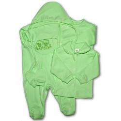 5-ti dílná soupravička zelená Zelená velikost - 56 (0-3m)