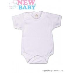 Body krátký rukáv New Baby Classic Bílá velikost - 50