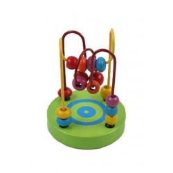 Dřevěná edukační hračka Baby Mix labyrint zelený Zelená