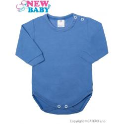 Kojenecké body s dlouhým rukávem New Baby modré Modrá velikost - 56 (0-3m)