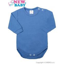 Kojenecké body s dlouhým rukávem New Baby modré Modrá velikost - 80 (9-12m)