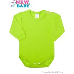 Kojenecké body s dlouhým rukávem New Baby světle zelené Světle zelená velikost - 80 (9-12m)