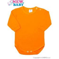 Kojenecké body s dlouhým rukávem New Baby oranžové Oranžová velikost - 86 (12-18m)