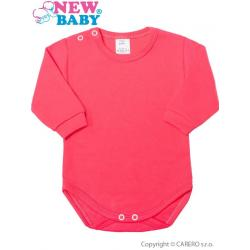 Kojenecké body s dlouhým rukávem New Baby tmavě růžové Tmavě růžová velikost - 86 (12-18m)