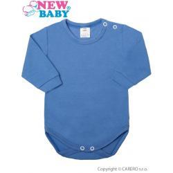 Kojenecké body s dlouhým rukávem New Baby modré Modrá velikost - 86 (12-18m)