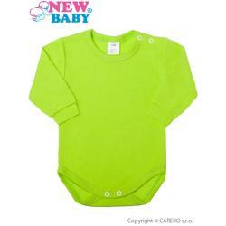 Kojenecké body s dlouhým rukávem New Baby světle zelené Světle zelená velikost - 86 (12-18m)