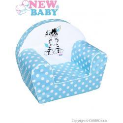 Dětské křeslo New Baby Zebra modré Modrá