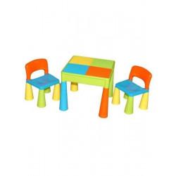 Dětská sada stoleček a dvě židličky multi color Dle obrázku