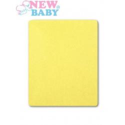 Nepromokavé prostěradlo New Baby 120x60 sv. žluté Žlutá