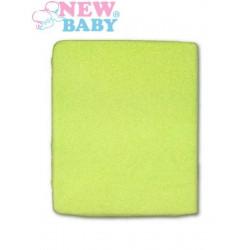 Nepromokavé prostěradlo New Baby 120x60 zelené Zelená