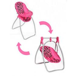 Jídelní židlička a houpačka 2v1 pro panenky PlayTo Isabella Dle obrázku