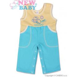 Dětské lacláčky New Baby Happy tyrkysové Tyrkysová velikost - 80 (9-12m)