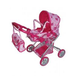 Hluboký kočárek pro panenky Baby Mix Růžová