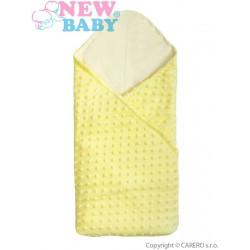 Multifunkční dětská deka 2v1 New Baby žlutá Žlutá