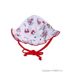 Dětský klobouček Baby Service Miss Star Červená velikost - 50