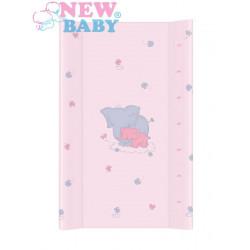 Přebalovací nástavec New Baby Sloník růžový 50x80cm Růžová