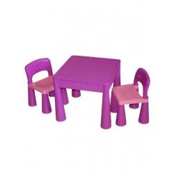 Dětská sada stoleček a dvě židličky fialová Fialová