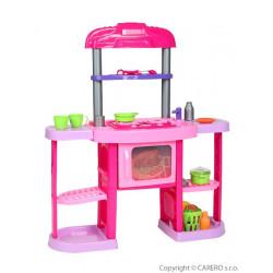 Velká dětská kuchyňka Bayo + příslušenství  32 ks Růžová