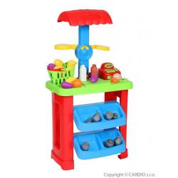 Dětský prodejní stánek Bayo + příslušenství  44 ks Zelená