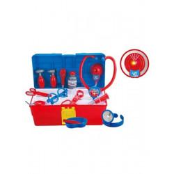 Dětská sada doktor v kufříku Bayo 17 ks Modrá