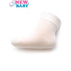 Kojenecké ponožky se vzorem New Baby bílé Bílá velikost - 86 (12-18 m)