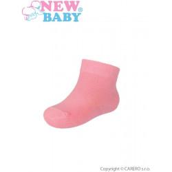 Kojenecké bavlněné ponožky New Baby růžové Růžová velikost - 62 (3-6m)