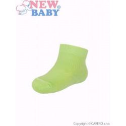 Kojenecké bavlněné ponožky New Baby zelené Zelená velikost - 74 (6-9m)