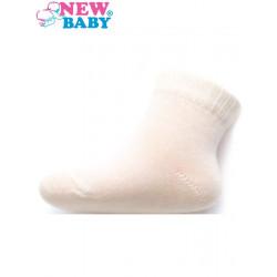 Kojenecké bavlněné ponožky New Baby bílé Bílá velikost - 86 (12-18 m)