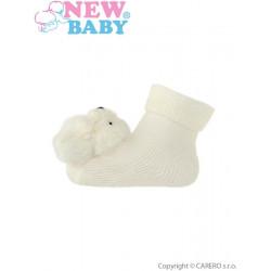 Kojenecké ponožky s chrastítkem New Baby béžové Béžová velikost - 62 (3-6m)