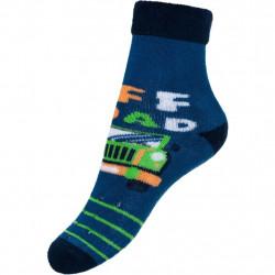 Dětské froté ponožky New Baby s ABS modré off road Modrá velikost - 80 (9-12m)
