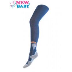 Bavlněné punčocháče New Baby tmavě modré sparta Modrá velikost - 128 (7-8 let)