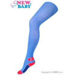 Bavlněné punčocháče New Baby modré s písmenem F Modrá velikost - 128 (7-8 let)