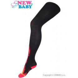 Bavlněné punčocháče New Baby černé s plameny Černá velikost - 128 (7-8 let)