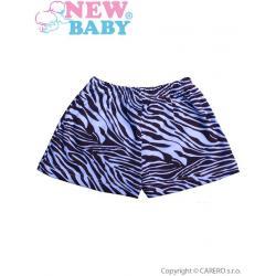 Dětské kraťasy New Baby Zebra modré Modrá velikost - 80 (9-12m)