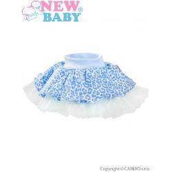 Kojenecká suknička s tylovou spodničkou New Baby Leopardík modrá Modrá velikost - 98 (2-3r)