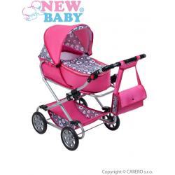 Dětský kočárek pro panenky 2v1 New Baby Růženka Růžová
