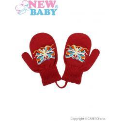 Dětské zimní rukavičky New Baby s motýlkem červené Červená velikost - 98 (2-3r)
