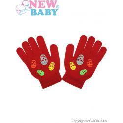 Dětské zimní rukavičky New Baby Girl oranžové Oranžová velikost - 122 (6-7 let)