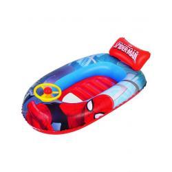 Dětský nafukovací člun s volantem Bestway Spider Man Červená