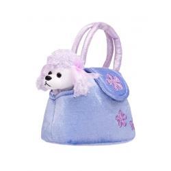 Dětská plyšová hračka PlayTo Pejsek v kabelce fialová Fialová