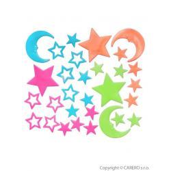 Svítící samolepky Bayo hvězdičky - 30 ks Dle obrázku