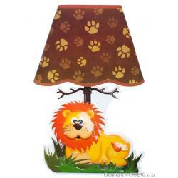 Svítící samolepící LED lampička Bayo lev Hnědá
