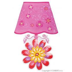 Svítící samolepící LED lampička Bayo kytička Růžová