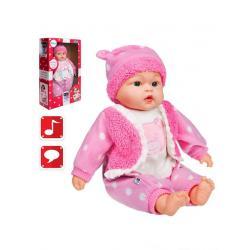 Česky mluvící a zpívající dětská panenka PlayTo Anička 46 cm Růžová