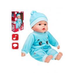 Polsky mluvící a zpívající dětská panenka PlayTo Beatka 46 cm Modrá