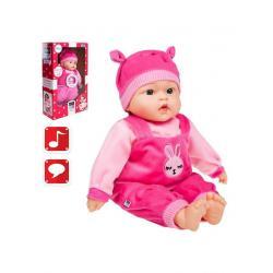 Česky mluvící a zpívající dětská panenka PlayTo Terezka 46 cm Růžová
